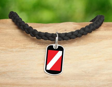Necklace - Diver Down Flag Tag