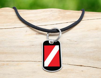 Neck Cord - Diver Down Flag Tag