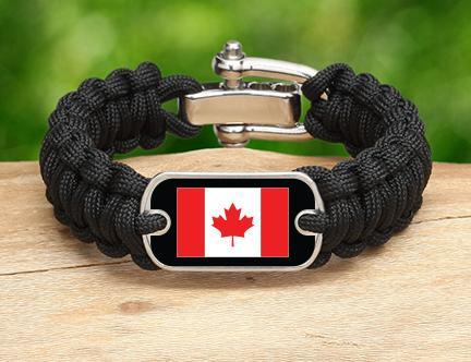 Regular Survival Bracelet - Canadian Flag
