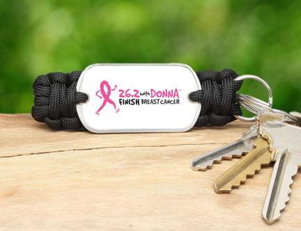 Key Fob - 26.2 with DONNA (Black)