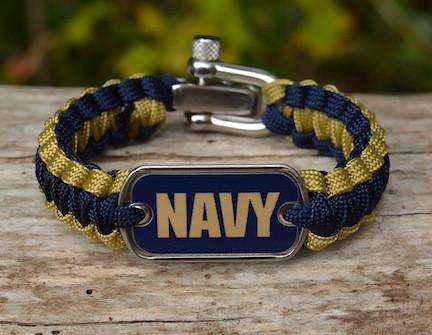 Light Duty Survival Bracelet - Officially Licensed - U.S. Navy - V1