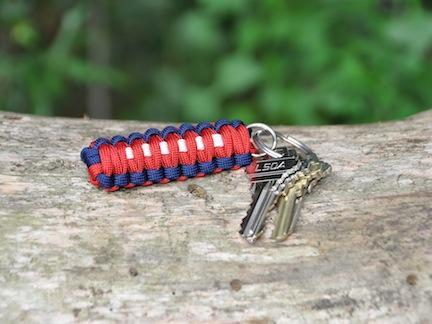Key Fob - Red, White & Blue