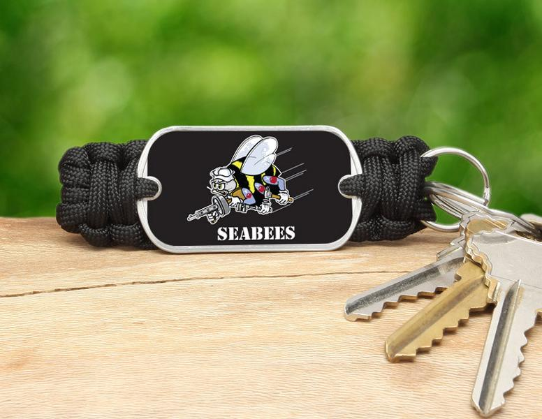 Key Fob - Officially Licensed - U.S. Navy Seabees