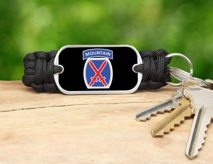 Key Fob -U.S. Army™ 10th Mountain Black