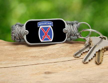 Key Fob-U.S. Army™ 10th Mountain ACU/Foilage