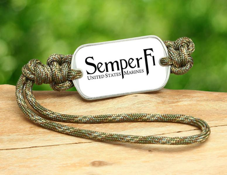Gear Tag - White Semper Fi