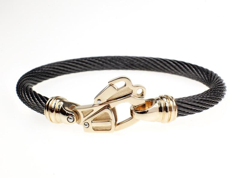 Black Diamond 14K Gold Helo Rescue Bracelet