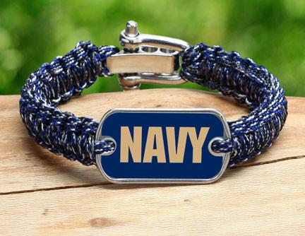 Light Duty Survival Bracelet - Officially Licensed - U.S. Navy - V2
