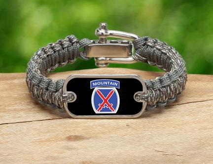 Light Duty Survival Bracelet™-U.S. Army™ 10th Mountain ACU/Foilage