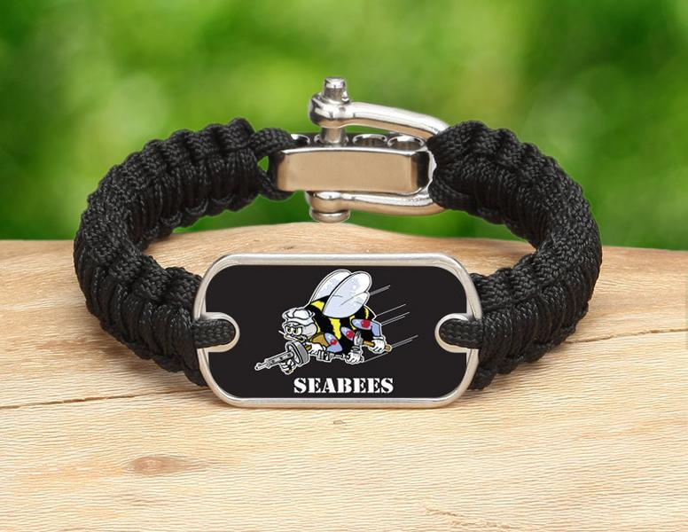 Light Duty Survival Bracelet™ - Officially Licensed - U.S. Navy Seabees