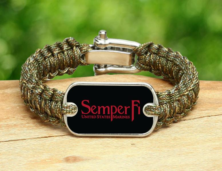 Light Duty Survival Bracelet™ - Red Semper Fi