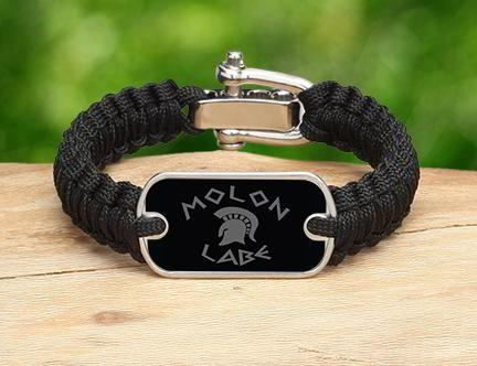 Light Duty Survival Bracelet - Molon Labe (Gray)
