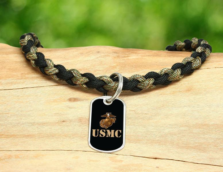 Necklace - Gold USMC Logo