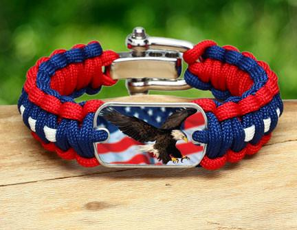 Regular Survival Bracelet - America Strong Eagle3 Logo