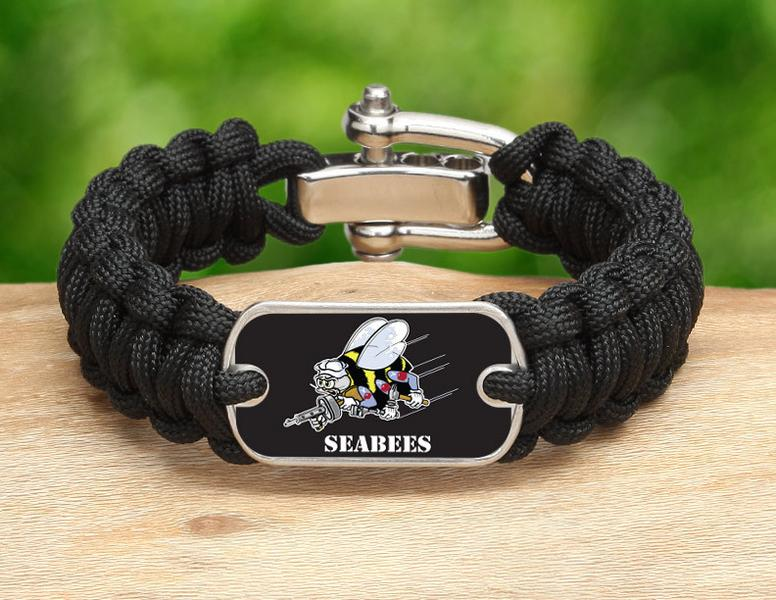 Regular Survival Bracelet™ - Officially Licensed - U.S. Navy Seabees