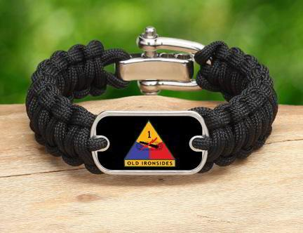 Regular Survival Bracelet™-U.S. Army™ 1st Armored Black
