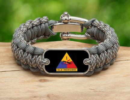 Regular Survival Bracelet™-U.S. Army™ 1st Armored ACU/Foilage