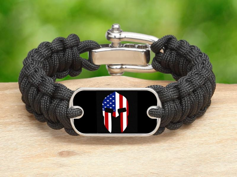Regular Survival Bracelet™ - Spartan American Flag