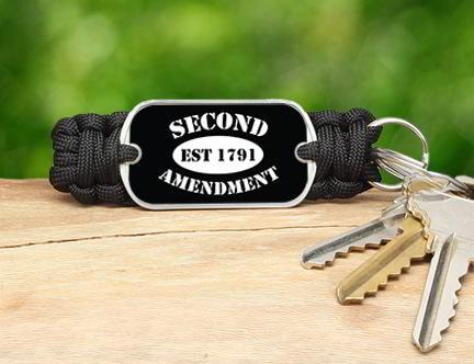 Key Fob - 2nd Amendment Est. (White)