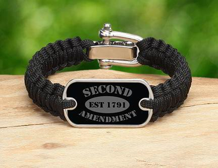 Light Duty Survival Bracelet - 2nd Amendment Est. (Gray)