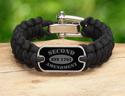 Regular Survival Bracelet - 2nd Amendment Est. (Gray)