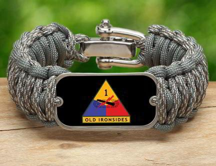 WIDE Survival Bracelet™-U.S. Army™ 1st Armored ACU/Foilage
