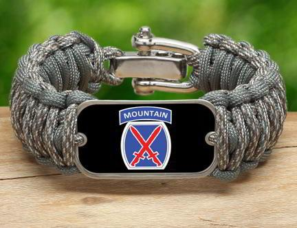 WIDE Survival Bracelet™-U.S. Army™ 10th Mountain ACU/Foilage