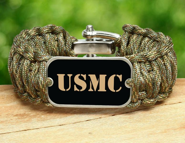Wide Survival Bracelet™ - Gold USMC