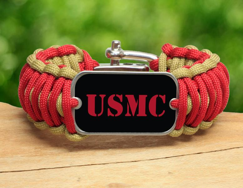 Wide Survival Bracelet™ - Red USMC